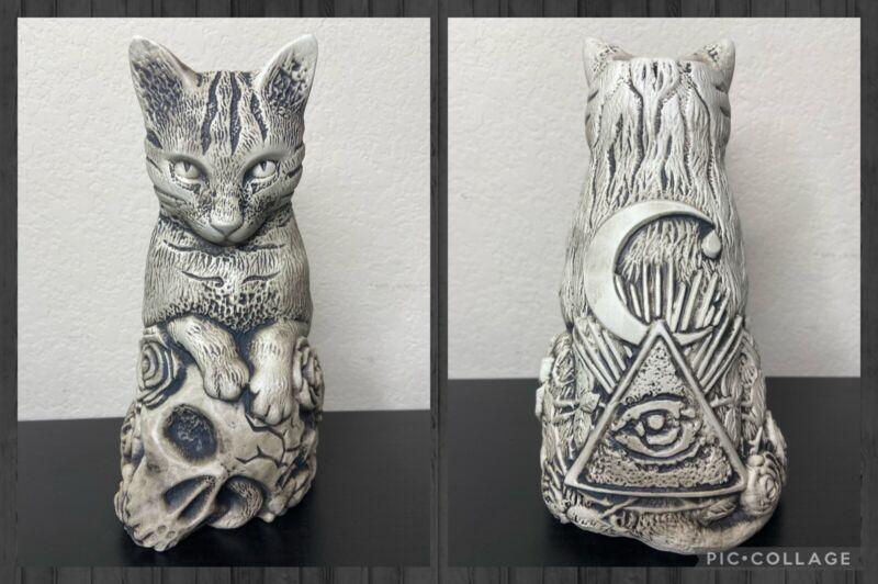 Kindred Armory Cat Magic Punks Tiki Mug Skull Roses Limited Ed.1000 Thor Goth