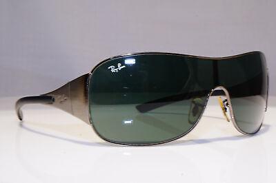 RAY-BAN Mens Vintage 1990 Designer Sunglasses Silver Shield RB 3321 041/71 24618