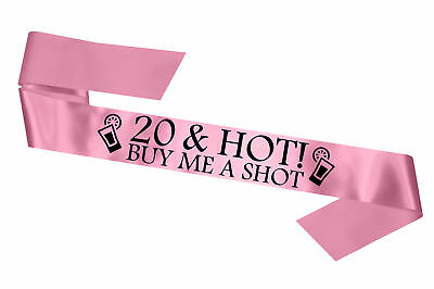 Baby Pink 20 & Hot Birthday Sash Gift Present Legal Age Party Decoration Cheap - Cheap New Years Decorations