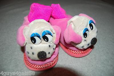 Toddler Girls PLUSH ANIMAL HEAD SLIPPERS Cute Dog Puppy Face LT GRAY Pink Tops 7](Toddler Animals)