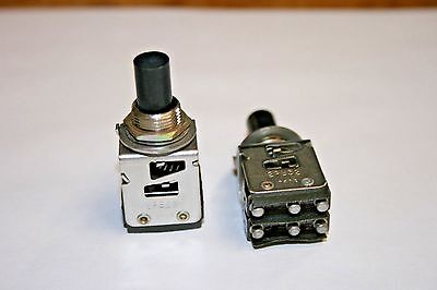 2 Pack Dpdt Micro Switch - Dual Momentary - Com-no -- Open-nc 100-455