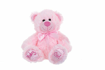 Brand New Childs 10 Baby Girl Pink Teddy Bear Plush Soft Toy For