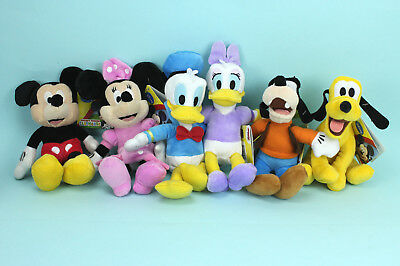 Mickey Minnie Maus Disney Donald Daisy Duck Pluto Goofy Plüschtier 20cm NEU