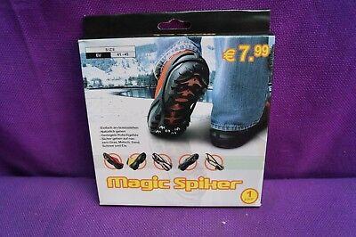 Magic Spiker Größe 41-45 Eiskrallen Eisschuhe Schuhspikes Schneespikes Neu OVP