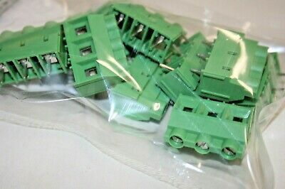 10 Pack Phoenix Contact Mkds 3-position Pcb Terminal Block 102-257