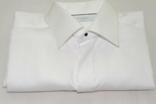 $285 NWOT Eton Contemporary Fit French Cuff Hidden Button Dress Shirt 16 1/2- 36