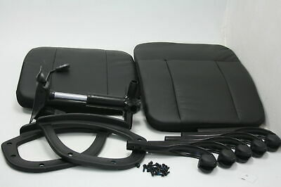 SMUGCHAIR Mid Back Leather Computer Swivel Office Task Chair w Armrests Black