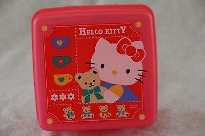Sanrio HELLO KITTY Plastic Trinket Snack Box Case Divided Dark Pink Vtg 1995 EX  - Hello Kitty Snacks