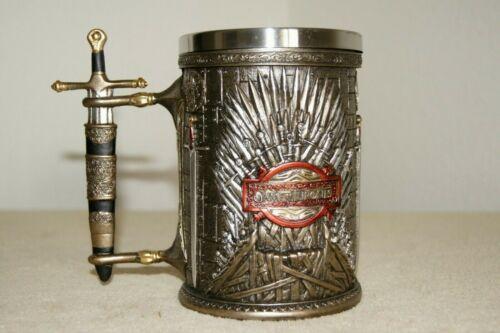 Game of Thrones Stainless Steel Resin Beer Tankard Iron Throne 600ml, 21oz