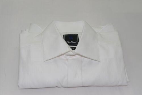 $155 NWOT David Donahue Trim French Cuff Hidden Button Tuxedo Shirt 15 - 32/33