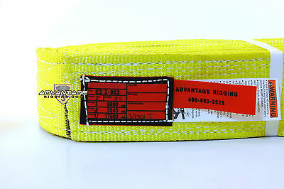 Ee2-903 X25ft Nylon Lifting Sling Strap 2 Inch 3 Ply 25 Foot Length Usa Made