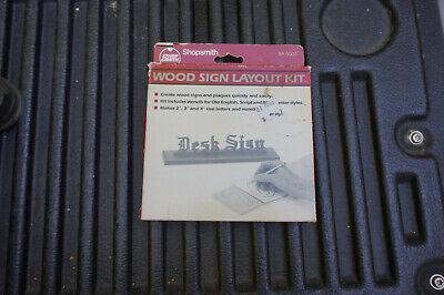 Shopsmith Mark V Wood Sign Layout Kit Free Shipping