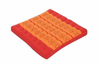 Thaikissen Sitzkissen 50x50 orange Sitz Bodenkissen Auflage Zabuton Stuhlkissen for sale  Shipping to Ireland