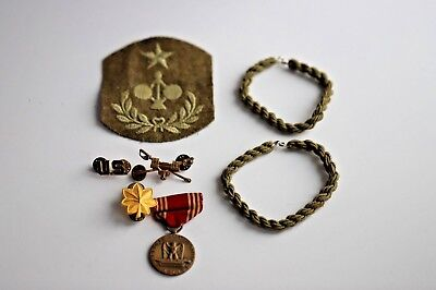 SELECTION OF WW2 ERA MILITARY ITEMS GOOD CONDUCT MEDAL OAK LEAF PATCH TANK SABRE for sale  Shipping to United Kingdom