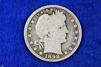 ESTATE FIND 1898 - Barber Quarter!!  #H12123