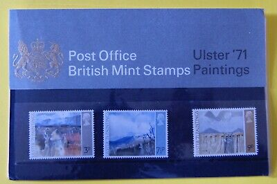 1971 GB Presentation Pack No.26A, Ulster '71 Paintings, issued 16th June