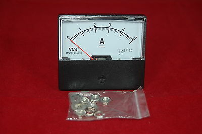 Dc 5a Analog Ammeter Panel Amp Current Meter Dc 0-5a 6070mm Directly Connect