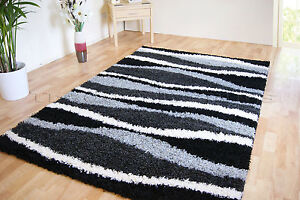 SMALL EXTRA LARGE THICK SOFT RUG MODERN SHAGGY NON SHED RUGS (MAT CHOCOLATE LIME