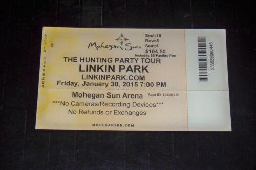 LINKIN PARK ORIGINAL 2015 TICKET STUB**MOHEGAN SUN ARENA CT**JANUARY 30, 2015**