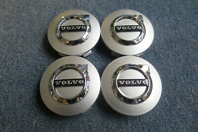 4 Nabendeckel/Radkappen für Alufelgen von Volvo in weiß/blau/chrom, gebraucht gebraucht kaufen  Oelsnitz