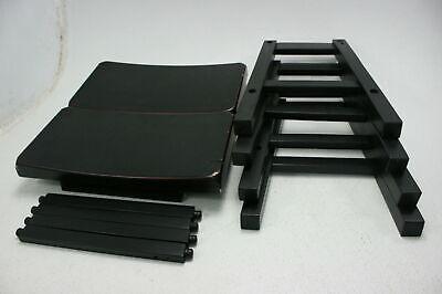 Homelegance Saddleback 18 in Barstools 2 Pair Black Sand Finish Solid Wood
