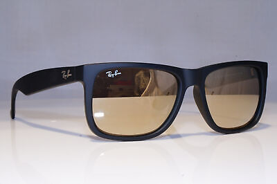 RAY-BAN Mens Mirror Boxed Sunglasses Black JUSTIN GOLD RB 4165 622/5A 21901
