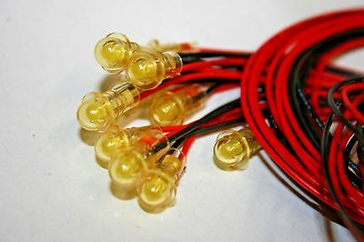10 Pack 3vdc Yellow Led - Wleads 100-294
