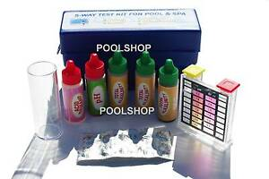 SWIMMING POOL SPA WATER CHEMICAL TEST KIT STRIP 5 WAY CHLORINE Beldon Joondalup Area Preview