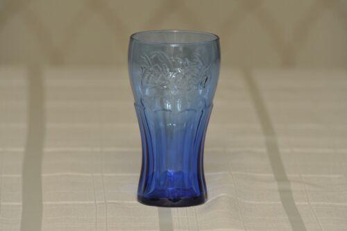 "Vintage Cobalt Blue Coca Cola Glass, 6"" Tall - Mint Condition"