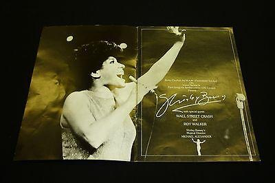 Shirley Bassey Tour Programme 1980