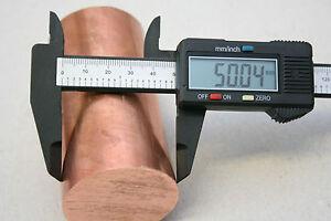 Copper Round Bar Rod - C101 6mm - 50mm Diameter  Milling Machine Lathe Drill