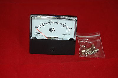 Ac 5ma Analog Ammeter Panel Amp Current Meter Ac 0-5ma 6070mm Directly Connect
