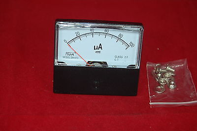 Dc 100ua Analog Ammeter Panel Amp Current Meter 0-100ua 6070mm Directly Connect
