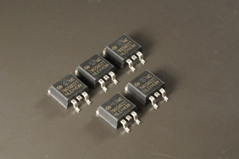 Lot of 5 NCV7805BD2TG Linear Technology Linear Voltage Regulator Fixed 5V 1A SMT