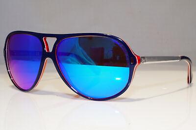 DOLCE & GABBANA Mens Mirror Vintage Sunglasses Blue Pilot D&G 3065 1872/55 25164