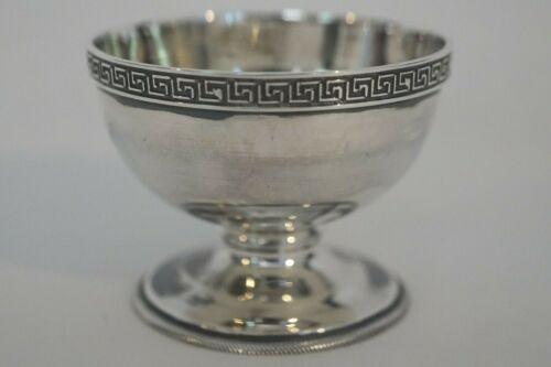 Antique Gorham Coin Silver 42 Greek Key Footed Salt Cellar