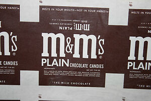 m&m wax paper wrapper 10 3/8