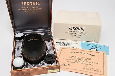 Sekonic L-398 Studio Deluxe 18K Gold Commemorative Edition Light Meter