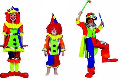 exklusives Clown Kostüm f. Mädchen Jungen u. Baby Zirkus Cirkus Clownskostüm  (Mädchen Zirkus Clown Kostüm)