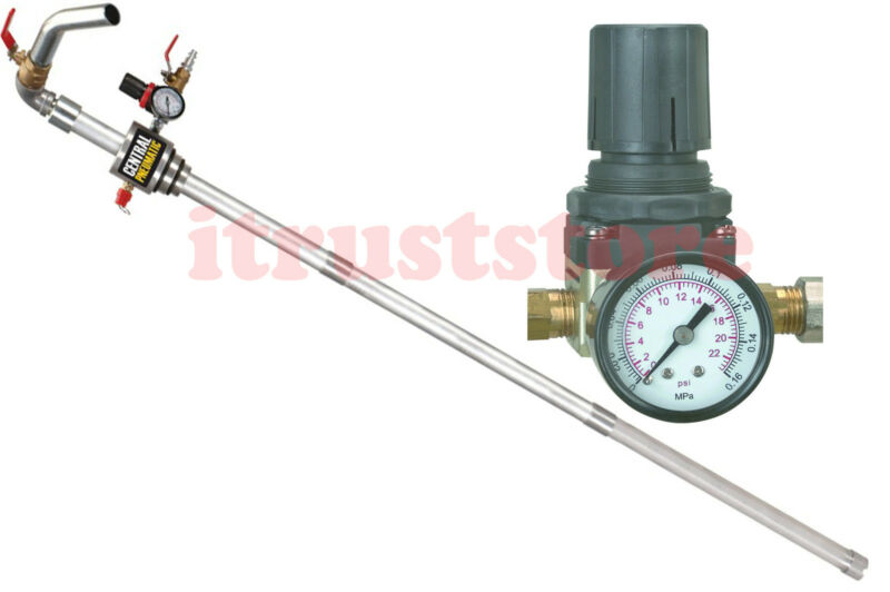 AIR PRESSURE OPERATED FLUID TRANSFER DIESEL DRUM BARREL OIL PUMP LONG TUBE 12GPM