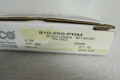 """Leco 810-269-PRM Silicon Carbide Wet/Dry PSA Disc 8"""" Diameter Grit 600c"""