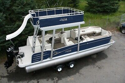 Spring blowout-New-2585 Funship cruise pontoon boat with 115