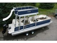 New-2585 Funship pontoon boat with 115  Hp Trailer