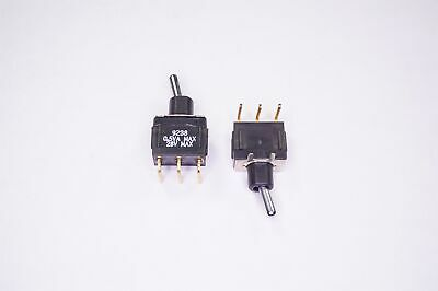 Lot Of 2 Cutler Hammer Mini Toggle Switch Spdt Single Pole Double Throw .5va 28v