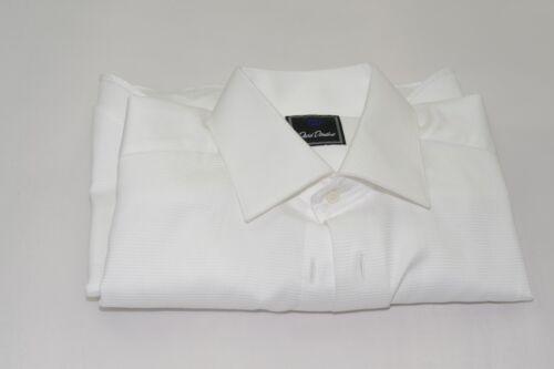 $135 NWOT David Donahue Mens French Cuff Buttonless Tuxedo Shirt 15 1/2 - 32/33