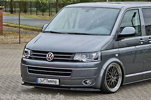 Spoilerschwert Frontspoilerlippe Cuplippe aus ABS VW Bus T5 Facelift Multivan