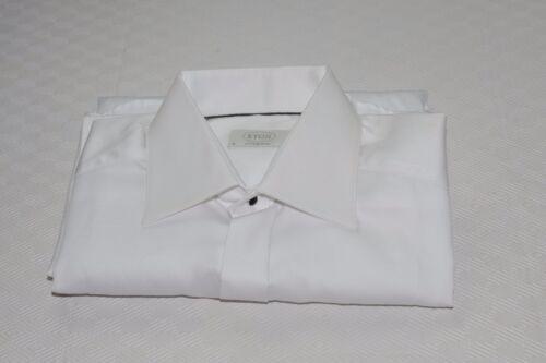$285 NWOT Eton Contemporary Fit French Cuff Hidden Button Dress Shirt 15 - 35
