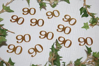 läum Jubiläumszahl Geburtstag 12St. Streuzahlen 90 (90. Geburtstag Tischdekoration)