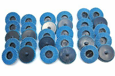 30pk 2 Inch Assorted Flap Sanding Disc Wheels Type R Roloc Twist Lock Disk