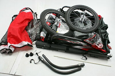 READ NOTES Allen Sports T2-R Steel 2-Child Bicycle Trailer Red Biking Accessory